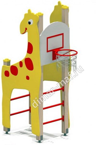 """Гимнастический комплекс """"Жираф с баскетбольным щитом"""" из категории Гимнастические комплексы"""