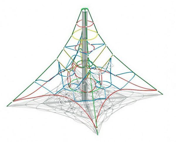 Сетка – Пирамида мини из категории Гимнастические комплексы