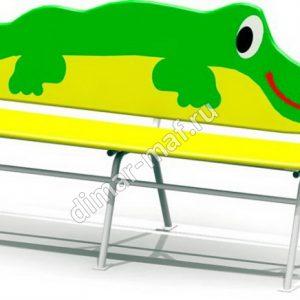 """Лавочка """"Крокодил"""" из категории Детские лавочки"""