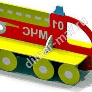 """Лавочка """"Пожарная машина"""" из категории Детские лавочки"""