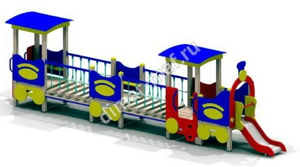 Паровозик с двумя вагончиками из категории Игровые формы