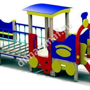 Паровозик с одним вагончиком из категории Игровые формы