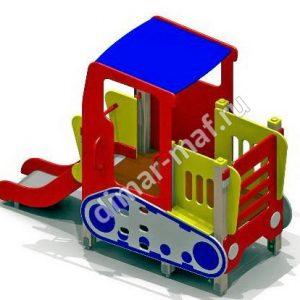 Трактор с горкой из категории Игровые формы