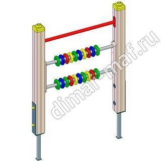 Счеты на столбах из категории Игровые формы