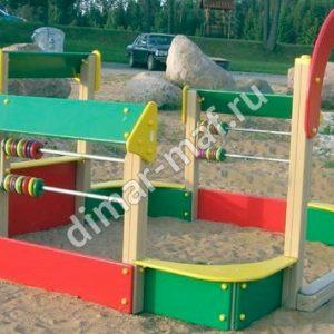 Песочный дворик  со счетами