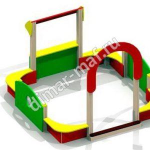 Песочный дворик  с аркой из категории Песочницы
