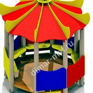 Игровой домик с лавочками круглый из категории Игровые домики