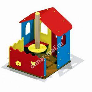 Игровой домик с палисадником из категории Игровые домики