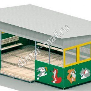 Теневой навес с окнами из категории Игровые домики