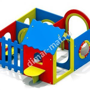Игровой Домик лабиринт 4 секции из категории Игровые домики
