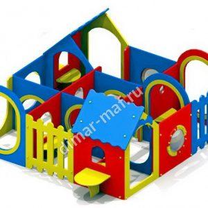 Игровой домик лабиринт 9 секции из категории Игровые домики