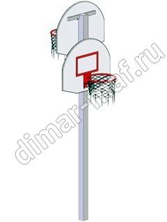 Стойка баскетбольная двойная из категории Спортивное оборудование