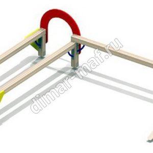 Бум-бревно двойное с арками из категории Спортивное оборудование