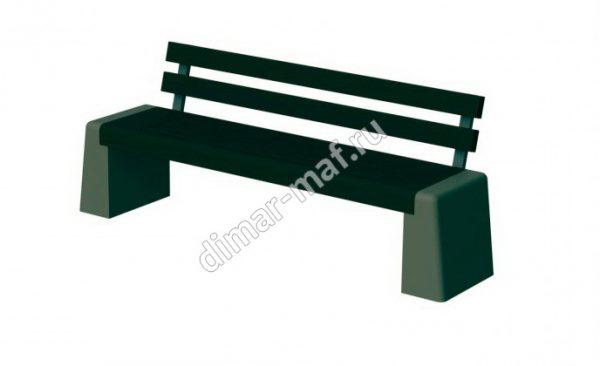 Скамья парковая со спинкой из категории Садово-парковое оборудование