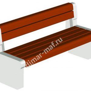 Диван парковый на ж/б ножках из категории Садово-парковое оборудование