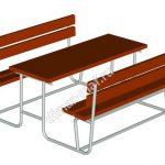 Стол со скамьями из категории Садово-парковое оборудование